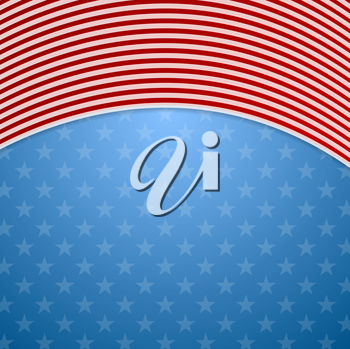 Memorial Day abstract USA flag colors background. Vector illustration