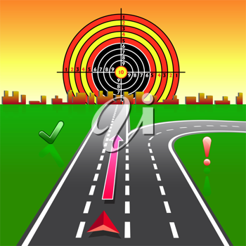 Royalty Free Clipart Image of a GPS Design