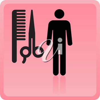 Royalty Free Clipart Image of a Hair Salon Icon