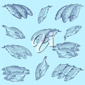 Royalty Free Clipart Image of Fish