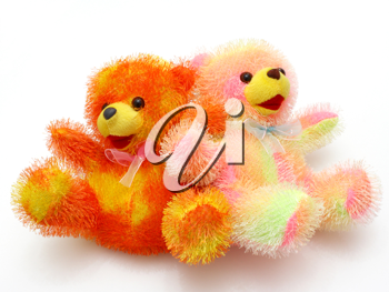 Children's bright beautiful soft toy for the child on a white background