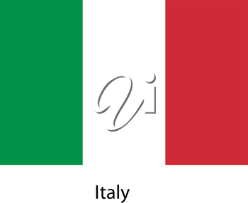 Flag  of the country  italy. Vector illustration.  Exact colors.