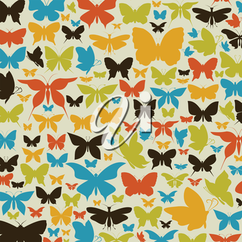 Background made of butterflies. A vector illustration