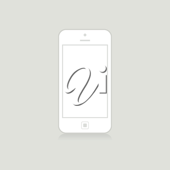 White phone on a grey background. A vector illustration