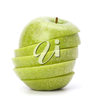 sliced apples isolated on white background