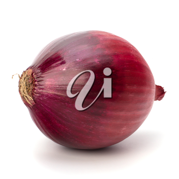Red onion tuber isolated on white background