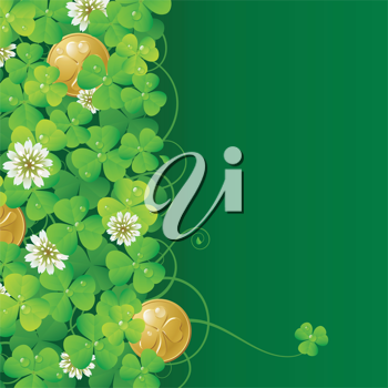 Royalty Free Clipart Image of a St Patricks Day Background
