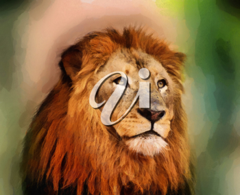Royalty Free Photo of a Painting of a Lion
