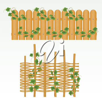 Royalty Free Clipart Image of Fence Borders