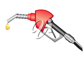 Royalty Free Clipart Image of a Gas Pump Nozzle