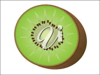 Royalty Free Clipart Image of a Kiwi