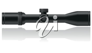 Royalty Free Clipart Image of a Sniper Riflescope