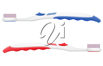 Royalty Free Clipart Image of Two Toothbrushes