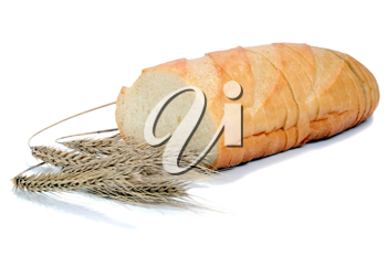 bread from a wheat isolated on white background