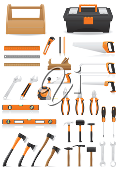Royalty Free Clipart Image of a Set of Tools