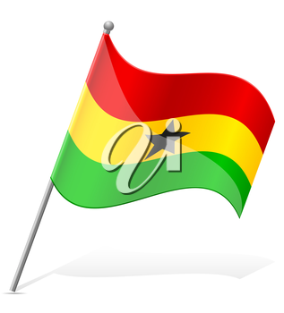 flag of Ghana vector illustration isolated on white background