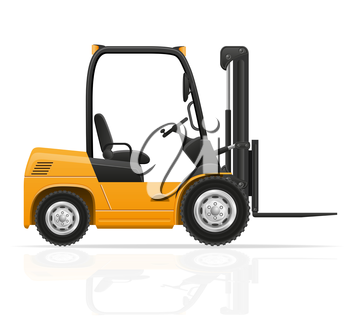 forklift truck vector illustration isolated on white background