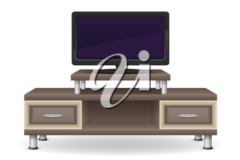 tv table furniture vector illustration isolated on white background