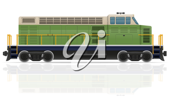 railway locomotive train vector illustration isolated on white background