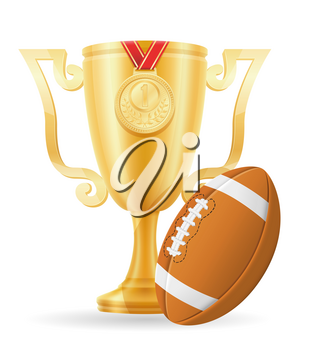 football cup winner gold stock vector illustration isolated on white background