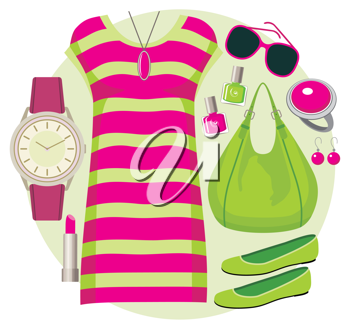 Royalty Free Clipart Image of a Tunic Set