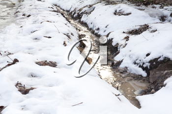 ditch in the snow