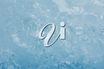 blue background of cold ice