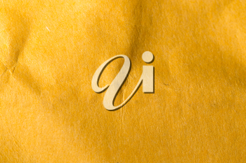background of yellow crumpled paper