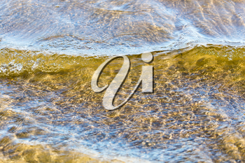Background of the surface water on the shore