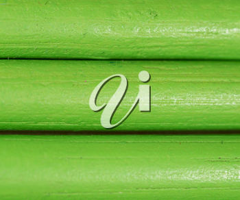 green pencils as background