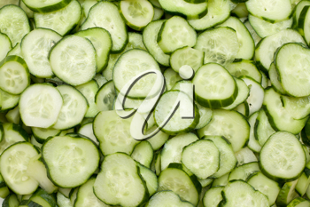 Royalty Free Photo of a Bunch of Cucumbers