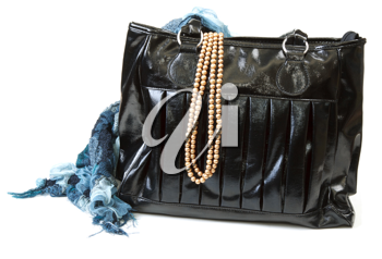 Royalty Free Photo of a Purse and Necklace