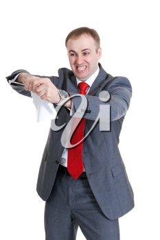 Royalty Free Photo of an Angry Businessman