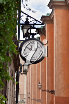 Royalty Free Photo of a Street Clock in Sweden