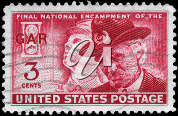Royalty Free Photo of a 1949 US Stamp That Shows the Union Soldier and GAR Veteran