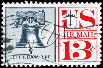 Royalty Free Photo of 1967 Stamp Shows the Liberty Bell