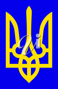 Illustration of the coat of arms of Ukraine