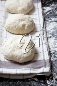 Royalty Free Photo of Dough on a Countertop