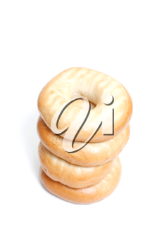 Royalty Free Photo of a Stack of Bagels
