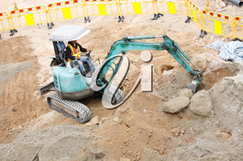 Royalty Free Photo of an Excavator