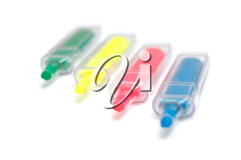 Royalty Free Photo of Four Markers