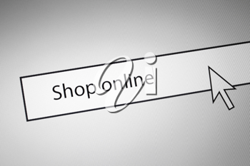 Royalty Free Photo of a Shop Online Concept