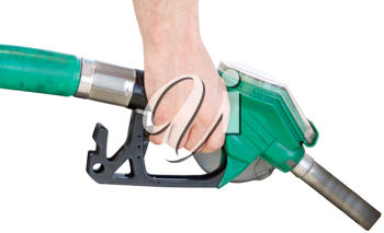 Royalty Free Photo of a Person Pumping Gas