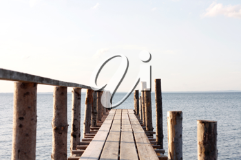 Royalty Free Photo of a Wooden Pier