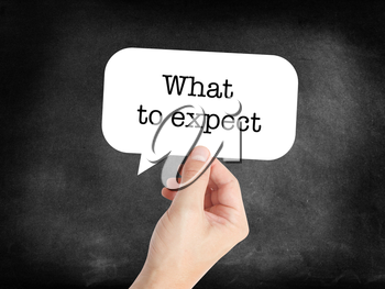What to expect written on a speechbubble