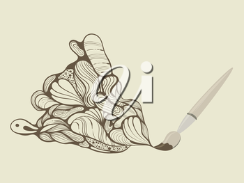 Royalty Free Clipart Image of a Paint Brush Picture