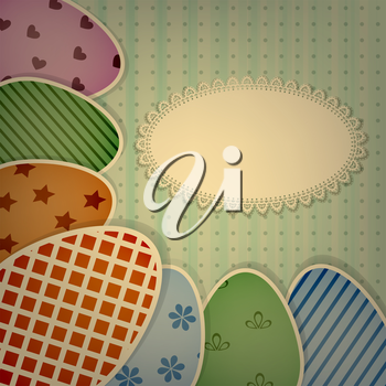 Royalty Free Clipart Image of a Easter Eggs