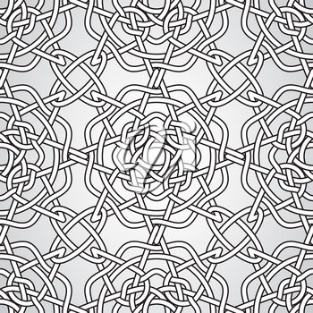 Vector Celtic Seamless Pattern, fully editable eps 10 file with clipping masks and seamless pattern in swatch menu