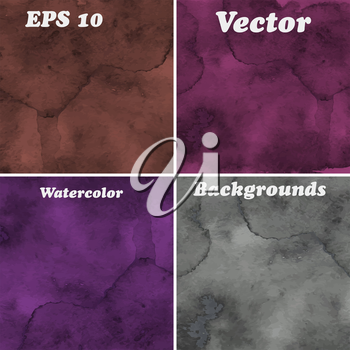 Vector Hand Drawn  Watercolor Background,  transparency effects