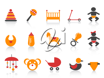 Royalty Free Clipart Image of Baby Toy Icons